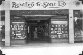 A view of the frontage of Bowden & Sons Ltd on Royal Parade, Plymouth.