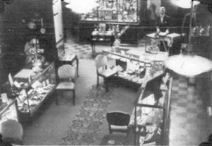 An interior view of the Bowden & Sons Ltd premises in Royal Parade, Plymouth.