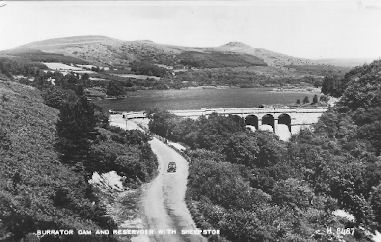 Burrator Reservoir before the Second World War.