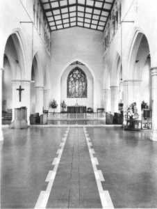 The interior of St Peter's Church, Plymouth