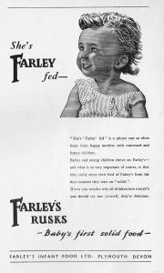 A Farley's Rusks advert from 1953.