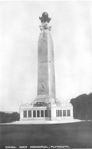 The western face of the Naval Memorial on Plymouth Hoe, as it was beforew the Second World War.