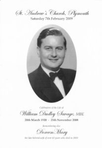 A memorial service in celebration of the life of William Dudley Savage.